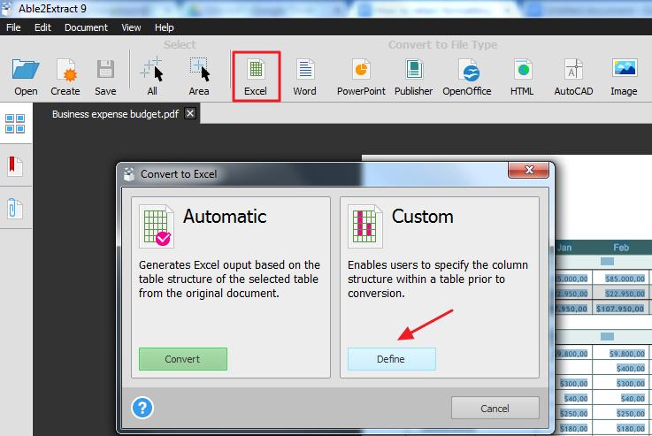 convertir de pdf a excel tipo